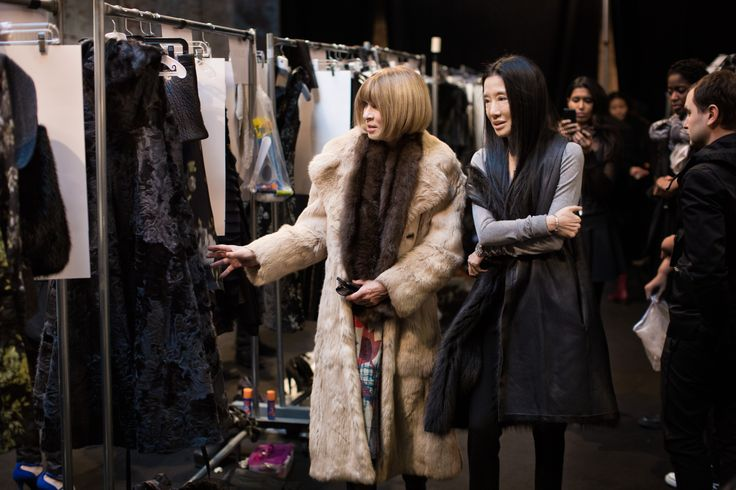Anna Wintour and Vera Wang preview her Fall 2014 RTW Collection
