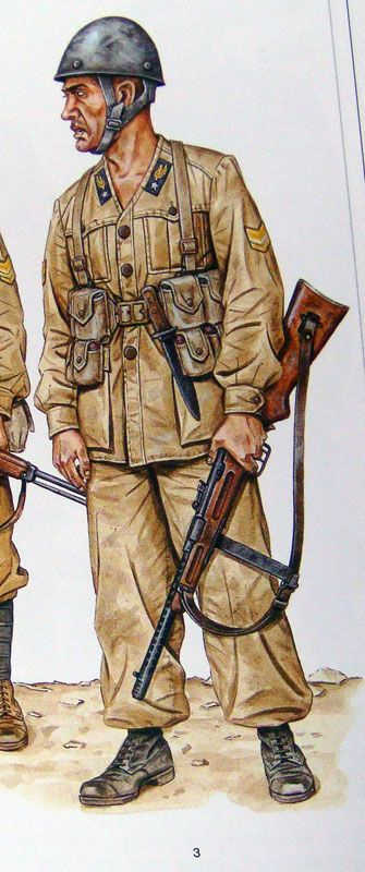 Folgore paratrooper, North Africa, pin by Paolo Marzioli