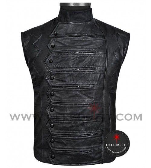 #CaptainAmerica The #WinterSoldier Leather Jacket for Sale celebsfit.com #mens #fashion #clothing #shopping