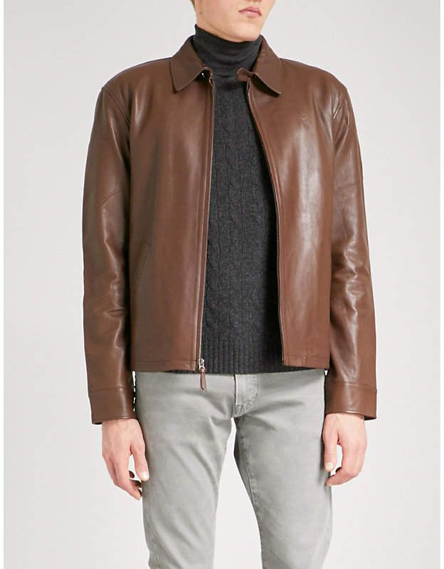 40572d20092 Polo Ralph Lauren Maxwell leather jacket | Mens Leather And Suede Coats