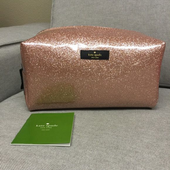 kate spade Terrance Street Large Davie Makeup Bag BRAND NEW with tag, never used, rose gold make up bag. kate spade Bags Cosmetic Bags & Cases