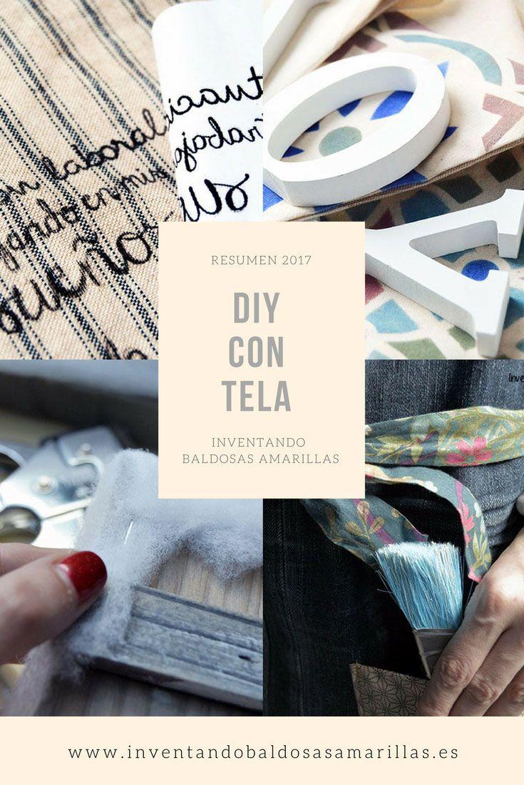 Resumen proyectos handmade 2017 DIY con tela