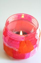 Activities: Tissue Paper Candle Holder: A Gift Kids Can Make