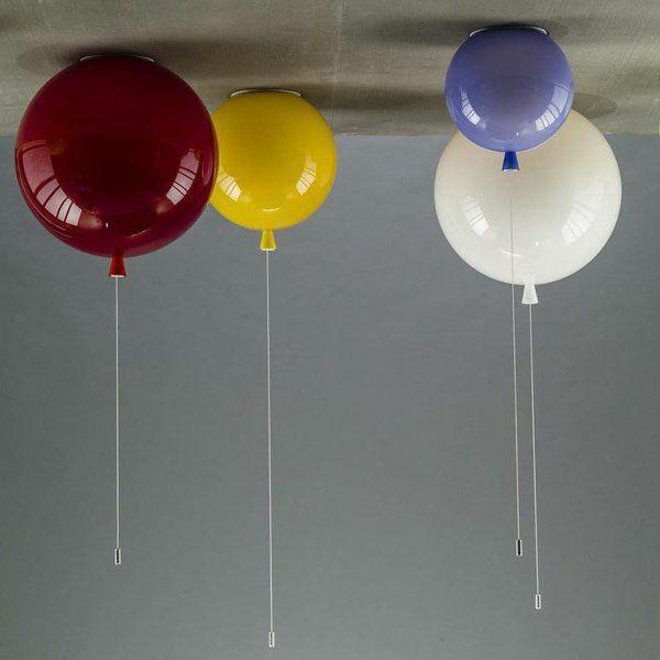 modernes kinderzimmer deckenlampe farbige luftballons