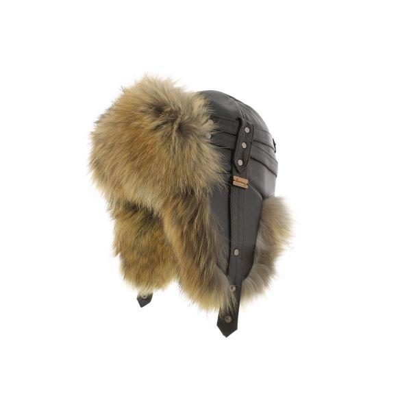 Chapka Herman cuir et fourrure renard Marron #hiver #mode #homme #streetwear #urbanwear #snow avec @hatshowroom