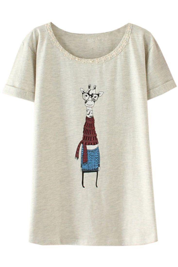 Amazon.co.jp: (オッサエプ)OASAP 甘いキチン柄プリントTシャツ: 服&ファッション小物通販