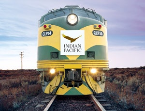 Australia's most famous train, the 'Indian Pacific'. One of the greatest rail journeys on earth. It is an ocean to ocean adventure in a comfortable three day journey - a total of 4352 km in 65 hours and a car carriage means you can take your car as well.