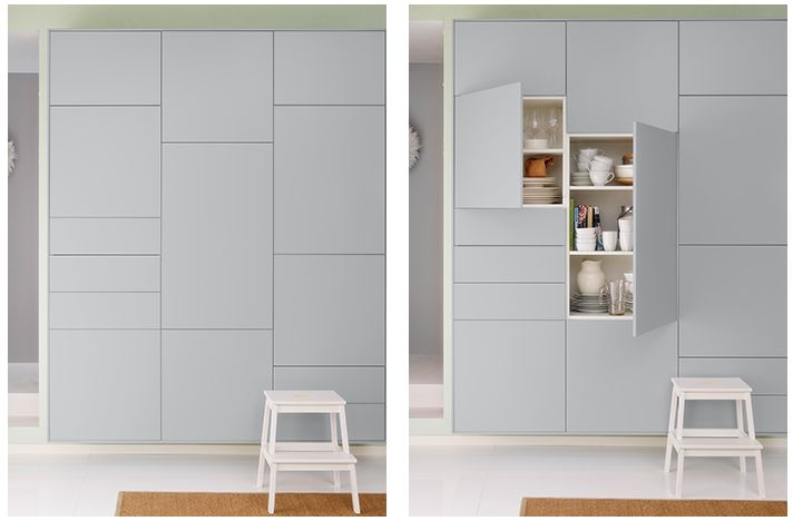 ikea wall cabinets veddinge grey keuken pinterest. Black Bedroom Furniture Sets. Home Design Ideas