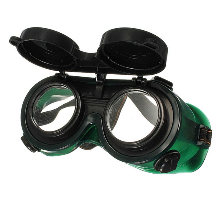Black & Dark Green Vinyl Resin Flip Up Welding Safety Goggle Protect Solder Welder Goggles Double Lenses  Durable #Affiliate