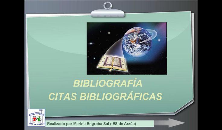 BIBLIOGRAFÍA CITAS BIBLIOGRÁFICAS. Unha presentación de Marina Engroba