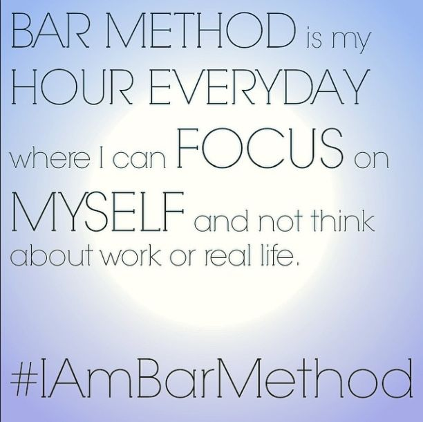 Make the Bar Method your escape! One hour to solely focus on you!