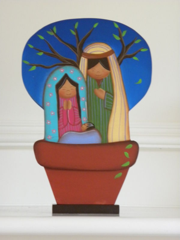 Nativity Scene from Venezuela, wooden hand painted