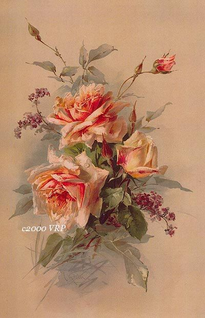 Victorian Summer Delights, Art Print, Catherine Klein, Half Yard Long…