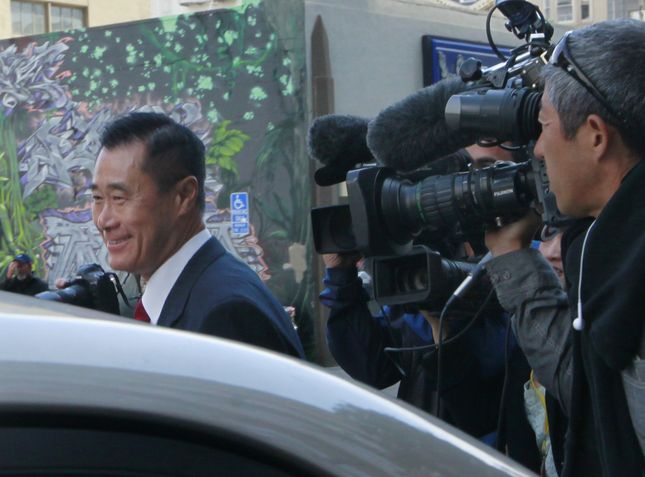 Former state Sen. Leland Yee gets into a car outside the Federal Courthouse in San Francisco, Calif., on Wednesday, July 1, 2015. Yee has accepted a plea