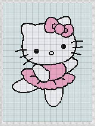 Hello Kitty - Afghan chart pattern