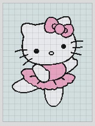 Knitting Pattern Hello Kitty : FREE HELLO KITTY KNITTING CHARTS Free Knitting Projects