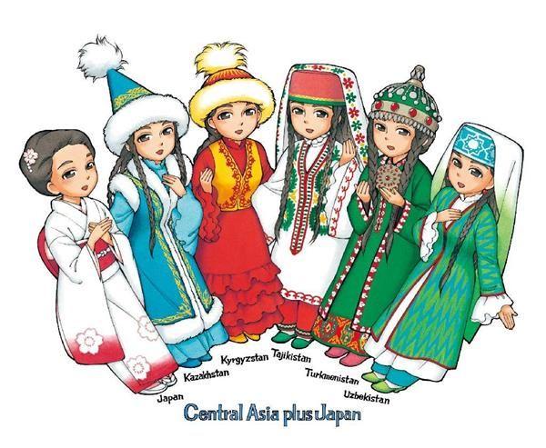 「中央アジア+日本」対話10周年記念イメージキャラクター(外務省提供)