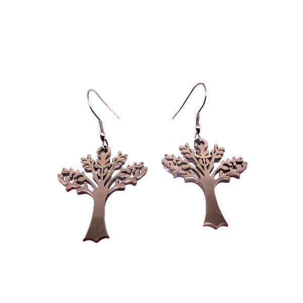 316L Stainless Steel Tree of Life earrings on stainless steel hypoallergenic ear wires. 316l Stainless Steel is excellent quality! With proper care these earrings will last a lifetime. Materials Grade