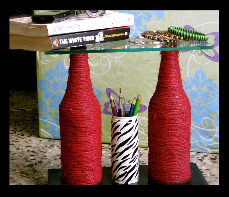 #fitoori up cycled #winebottles utility corner table #gift