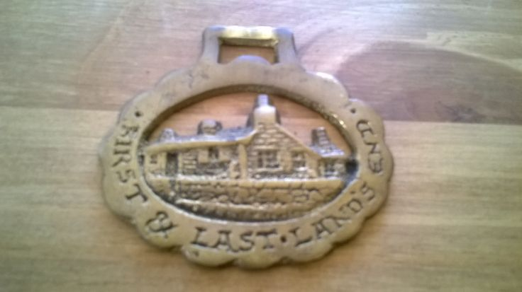 Vintage First & Last Lands End horses horse brass brasses tack circa 1970's Purchase in store here http://www.europeanvintageemporium.com/product/vintage-first-last-lands-end-horses-horse-brass-brasses-tack-circa-1970s/
