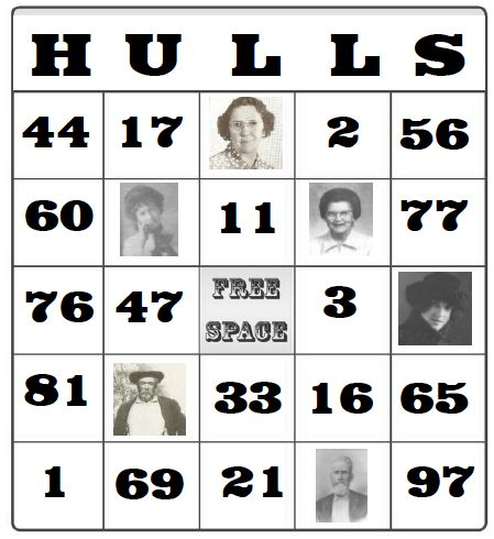 a couple variations on BINGO game with family facts (past or present)