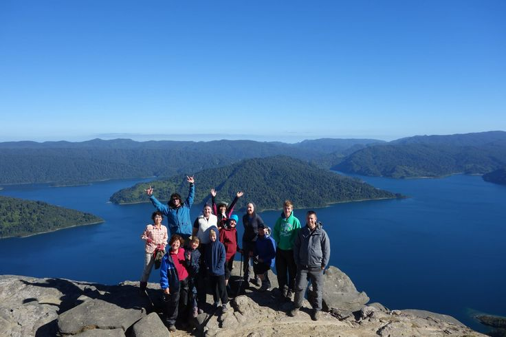 Start the new year right! New Years Day seen in from the top of Panekire Ridge, Lake Waikaremoana, Te Urewera National Park, North Island New Zealand.