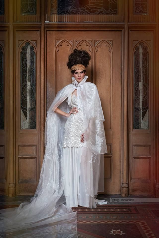 Copyright: greg desiatov photography  Photography: Greg Desiatov  Model: Laura Marie Boldiston  MUA: Mishel Vounatsos Bratsos Stylist: Lynette Pater  Dress And Cape: Lucy Laurita @ Leiela There She Is  Crown: Jo-Anne Rolfe @Vinatge Designs Assistant: Monique Lively & Kelly Kooper
