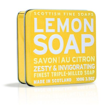 Soap in a Tin - Lemon : Scottish Fine Soaps, Luxury Bath and Body Specialists
