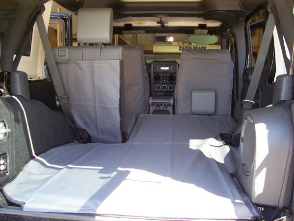 All Things Jeep - Canvasback Cargo Liner for 4 Door Jeep Wrangler Unlimited With Subwoofer (2007-2010)