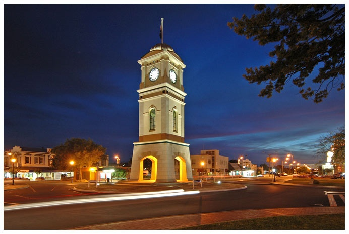 FEILDING, Manawatu, New Zealand - clock tower