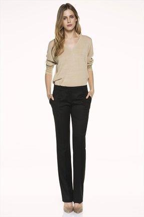 İpekyol - Siyah Pantolon IS1150003030 %49 indirimle 91,00TL ile Trendyol da