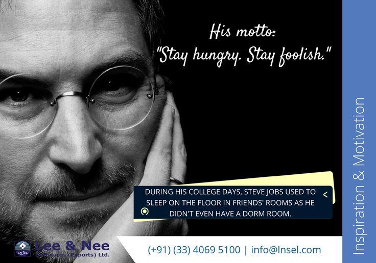 He even used to walk 7 miles to Hare Krishna Temple just to have 1 good meal a week. And the rest is history. #motivation #SteveJobs #LifeStories