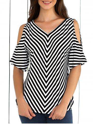 GET $50 NOW | Join RoseGal: Get YOUR $50 NOW!http://www.rosegal.com/blouses/cold-shoulder-striped-blouse-699047.html?seid=6790237rg699047