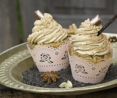 Rezept: Vanilla Chai Latte Cupcake  Zeit: 30 Minuten   http://eatsmarter.de/rezepte/vanilla-chai-latte-cupcake