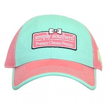 "Simply Southern Hat ""Preppy, Classy, Happy."" - Teal/ Pink from Chocolate Shoe Boutique"