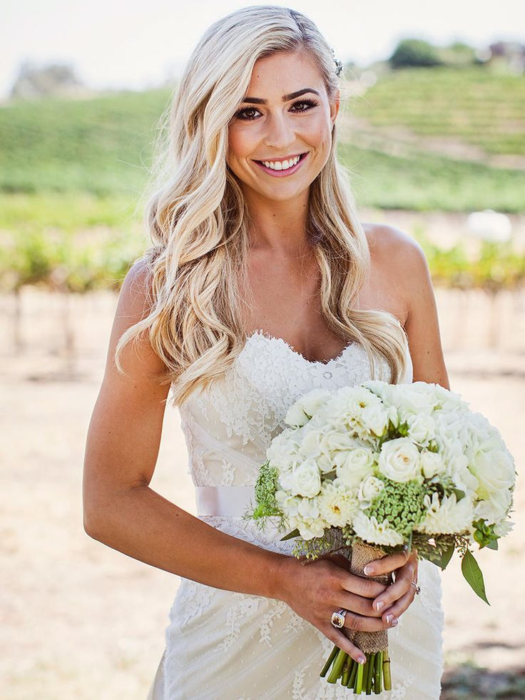 22 Country Chic Wedding Hairstyles Strapless Dress