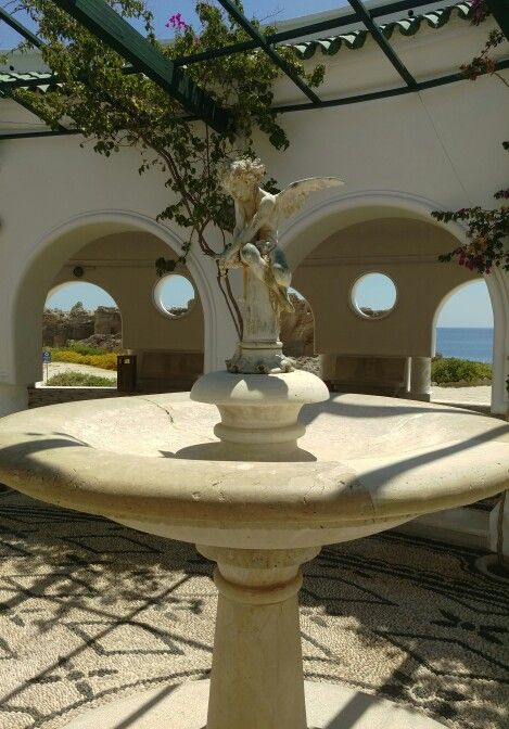 Statue of Eros at the Kalithea Springs, Rhodes, Greece