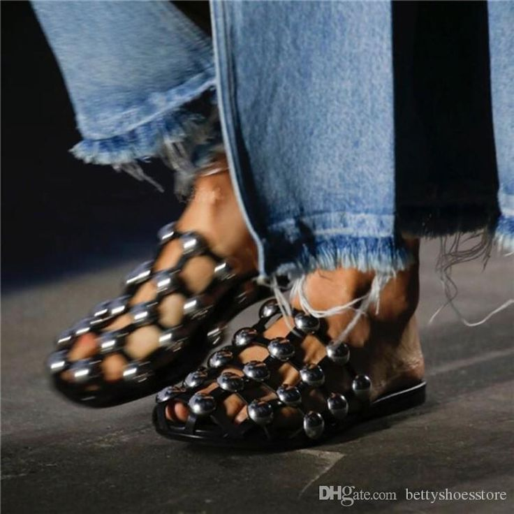 for sale finishline Cheap Ladies Plus Street Fashion Scuffs Studded Rivet Caged Slippers Women Casual Shoes Summer Slip On Flat Slides Black White cheap sale in China exclusive online best wholesale cheap online GQbVJZuIIY