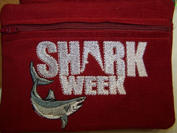 SHARK WEEK  Tampon & Maxi Pad Taxi Zippered Fabric by WoobiesGifts, $11.95