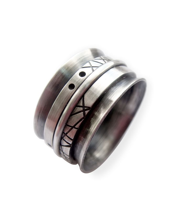 Sterling silver ring with 3 rotative bands  by CJ Jewellery Design -  http://cjjewellerydesign.com/ https://www.facebook.com/cjjewellerydesign