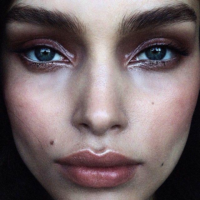 Luma Grothe, DVF, makeup by Hung Vanngo