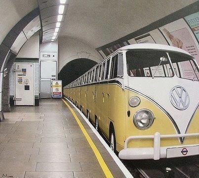 Creative Underground Train