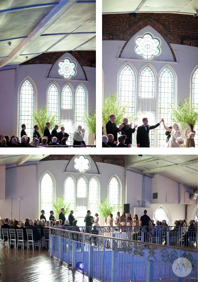"The mezzanine of the Berkeley Church - where we'll be saying 'I Do."""