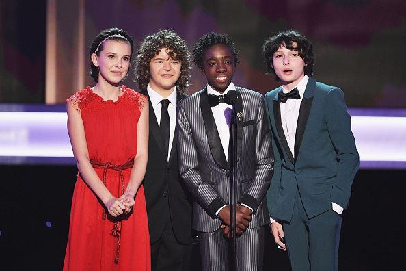 "The Stranger Things kids are NEVER ones to disappoint when it comes to looking adorable at award shows, and tonight they turned their cuteness meter ALL the way up: | The ""Stranger Things"" Kids Looked Too Freaking Cute At The 2017 SAG Awards"