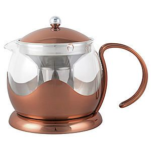La Cafetiere Copper Effect Le Teapot #Kaleidoscope #copper #dining #tea
