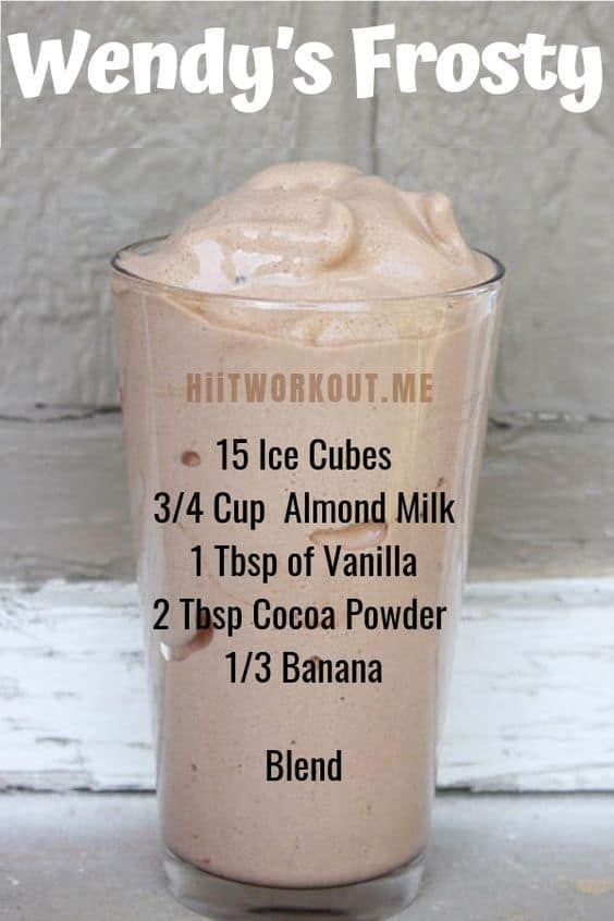 Receita Gelada de Wendy – Melhor Smoothie de Almoço Este smoothie É super recheio   – Protein