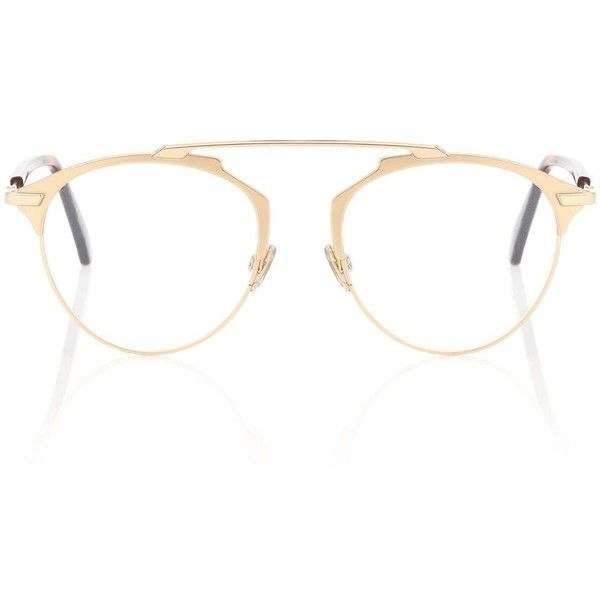 3d955e84f9a0 Dior Sunglasses Dior So Real Glasses ($465) ❤ liked on Polyvore featuring  accessories, eyewear, eyeglasses, gold, christian dior, golden glasses, ...