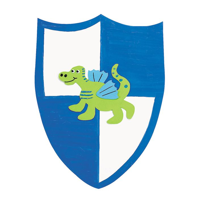 DIY On Guard Shields - OrientalTrading.com  - These are the shields for the Elementary age kids
