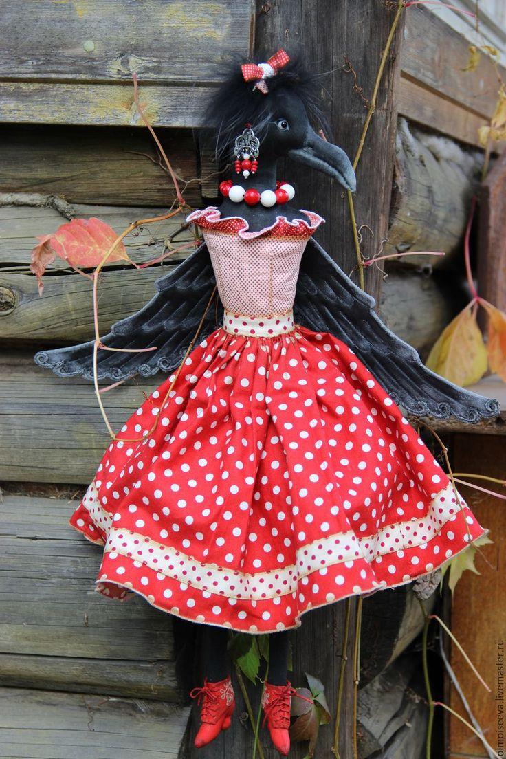 Купить Ворона Каролина - комбинированный, ворона, птица, талисман, символ, подарок на любой случай