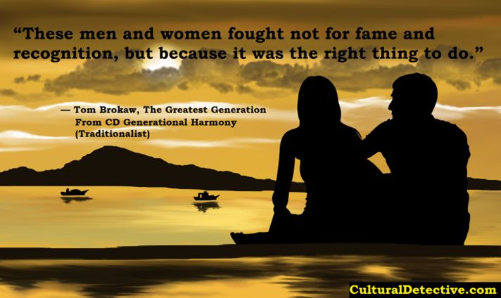 """""""These men and women fought not for fame and #recognition, but because it was the right thing to do."""" CD #Generational Harmony #Traditionalist #leader #team #diversity #effectiveness"""